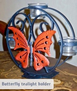 Nick Woolston Butterfly tealight stand