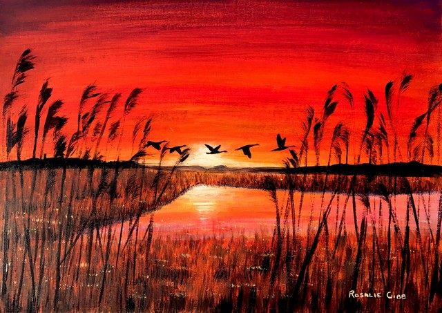 Rosalie Osborne Gibb Sunset Over The Marshs1