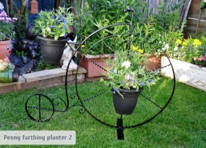 Nick Woolston Penny Farthing planter