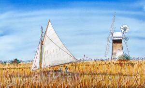 Rosalie Osborne Gibb Sailing By St Benet's resized